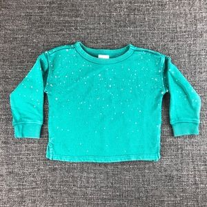 Gymboree Green Painted Sweater